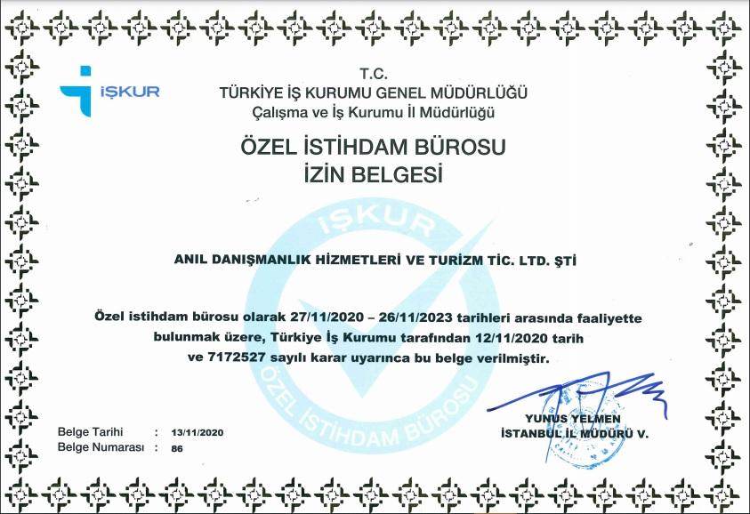 ozel istihdam brosu izin belgesi - Hakkımızda